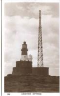 NORTHUMBERLAND - LONGSTONE LIGHTHOUSE (& RADIO MAST) CLOSE-UP RP Nm220 - England