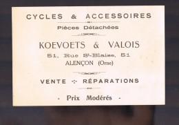 Cycles Et Accessoires KOEVOETS & VALOIS . - Alencon