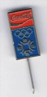 Pin Badge - Coca Cola Olympics Sarajevo - Hat Lapel Old - Olympic Games