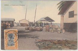 19273g CONGO BELGE - Factorerie à BANANA - 1905 - Colorisée - Congo Belge - Autres