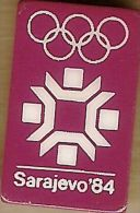 1984 Sarajevo Hot Pink Olympic Games Mark Pin - Olympic Games