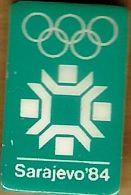1984 Sarajevo Light Green Olympic Games Mark Pin - Olympic Games