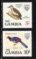 Gambia 1966 Birds 2v MNH - Gambie (1965-...)