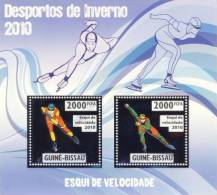 gb10205a-s Guinea Bissau 2010 Winter Olympic Games Speed Skiing Silver s/s