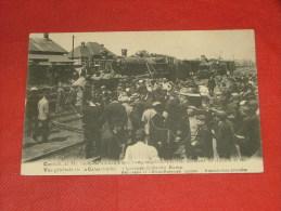 KONTICH  -  CONTICH - Schrikkelijk spoorweg ongeluk -  Algemeen zicht der ramp