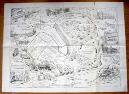 "Poster (Plan) van Nicolas Heins ""Stad Gent, Provinciale Tentoonstelling 1899 Citadelpark"