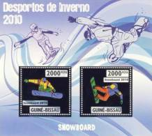 gb10203a-s Guinea Bissau 2010 Winter Olympic Games Snowboarding Silver s/s