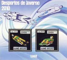gb10202a-g Guinea Bissau 2010 Winter Olympic Games Luge Gold s/s