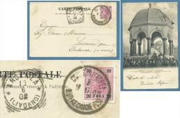 LEVANTE AUSTRIA   20 PARA - ANNULLO COSTANTINOPEL  I - CARTOLINA PER ARDENZA LIVORNO (annullo Tr) - In Data 9/6/1902 - Oriente Austriaco