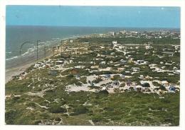 Camiers (62) :  Vue Aérienne Générale Au Niveau Du Camping Des Dunes à La Plage Saint-Gabriel En 1980 GF. - Francia