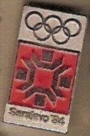 Hat Or Lapel Vintage Olympic Pin Badge,Sarajevo '84 Olympics Snowflake-red - Olympic Games