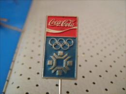 Winter Olympic Game SARAJEVO 1984 Pin Badge COCA COLA - Olympic Games