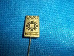 "1984 Sarajevo Winter Olympics 1 1/2"" Gold Logo Stick Pin - Olympic Games"