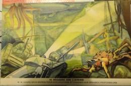 PUBLICITE BYRRH  24 REGARD SUR L´AVENIR  N°14 CHARS SOUS MARIN - Publicité