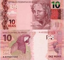 BRAZIL      10 Reais       P-253       2010 (2012)       UNC  [ Sign. 42 ] - Brazilië