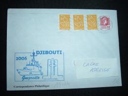 LETTRE TP MARIANNE FERNEZ 0,50E + LAMOUCHE 0,01E X3 OBL.MEC. 09-04-04 PARIS TRI INTERARMEES - Marcophilie (Lettres)