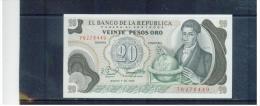 KOLUMBIEN  ,  COLOMBIA  ,  20 Pesos Oro ,    Pick #409       ,      1.1.1982 - Colombia