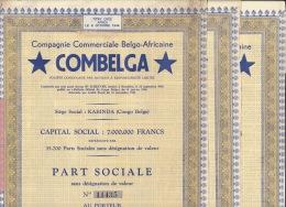 Lot 3 Actions Congo Afrique COMBELGA - Afrique