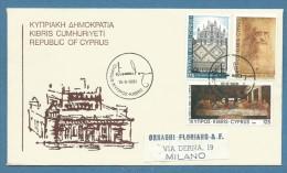 CIPRO CYPRUS - 1981 - LEONARDO SU BUSTA PER MILANO IN DATA 15/6/81 - Cipro (Repubblica)
