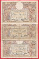 France 9 Billets Dans L ´état Et Usagés - 100 F 1908-1939 ''Luc Olivier Merson''