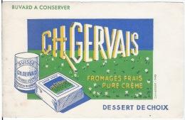 Buvard   Carré Frais GERVAIS - Alimentaire