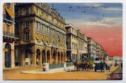 Alg�rie-- ALGER---1936--- Banque d'Alg�rie (anim�e,attelage,voiture ) ,n� 238 �d CAP--Belle carte coloris�e