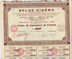 ACTION DE JOUISSANCE  - BELGE - CINEMA - 1932 - - Cinéma & Théatre
