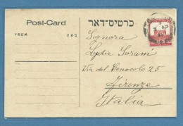 PALESTINA POST CARD DA TEL AVIV A FIRENZE IN DATA 3/4/34 - Palestina