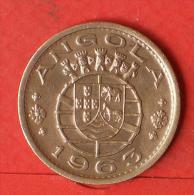 ANGOLA  1  ESCUDOS  1963   KM# 76  -    (Nº03261) - Angola