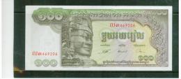 KAMBODSCHA , CAMBODIA  ,  ( 1957 )  ,  100 Riels  ,    Pick# 8 B  ,  Sign.13    ,   UNC - Kambodscha
