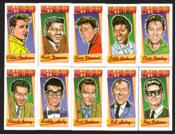 CIGARETTE/TRADE/CARDS. Lychgate Press. ROCK 'N' ROLL GREATS. (2005). (Complete Set Of 10 Cards). - Picture Cards