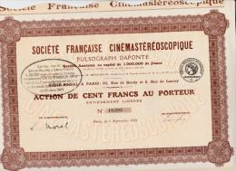 ACTION - SOCIETE FRANCAISE CINEMASTEREOSCOPIQUE-PULSOGRAPH -DAPONTE -1924 - Cinéma & Théatre