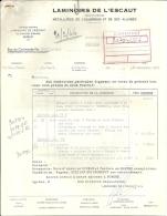 BURCHT  LAMINOIRS DE L'ESCAUT  Metallurgie De L'aluminium Et Ses Alliages Bon De Commande    2 Pages   28.12.1965 - 1950 - ...