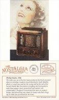 Postcard Philips Radio 1936 Art Deco Nostalgia Repro - Entertainment