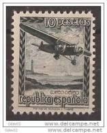 ESNE38-L1312TGE.España Spain Espagne .AVION  EN VUELO.1939.(Ed NE.38**).sin Charnela..LUJO - Geografía