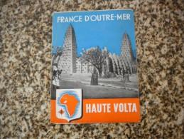 ANCIEN DÉPLIANT FRANCE D'OUTRE-MER HAUTE VOLTA - Géographie