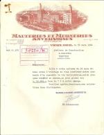 VIEUX DIEU  MALTERIES ET MEUNERIES ANVERSOISES  Commande De Vis Helicoidales + Plan  10 Pages   30.03.1966 - 1950 - ...