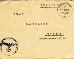 Feldpost WW2: Kraftwagen-Werkstatt-Zug 340 FP 39853 Dtd 9.10.1941 - Cover Only  (G44-1OC) - Militaria