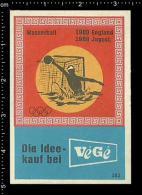 Poster Stamp - German Matchbox Label - Olympic Sports Water Polo Wasserball - Luciferdozen - Etiketten