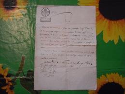 DOCUMENTO CON BOLLO STATO PONTIFICIO CARTA INTESTATA 1830 BELLANO COMO - Historische Dokumente