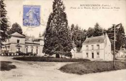 ROCHECORBON - Place De La Mairie, Ecole Et Bureau De Poste (61181) - Rochecorbon