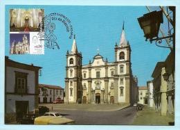 PORTUGAL - CATHÉDRALE  DE PORTALEGRE ALENTEJO CARTE MAXIMUM - PORTUGUESE CATHEDRALS MAXIMUM CARD - Maximumkaarten