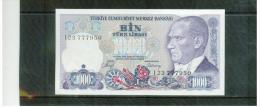 TÜRKEi , TURKEY  ,  1000  Lira    ,      Pick#134 - Turkey