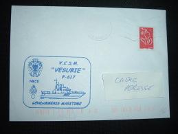 LETTRE TP MARIANNE DE LAMOUCHE TVP ROUGE ROULETTE OBL. MEC. NICE CTC (06 ALPES-MARITIMES) + GENDARMERIE - Marcophilie (Lettres)