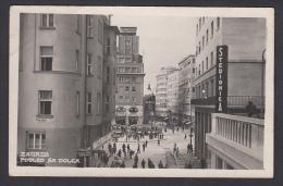 CROATIA - Zagreb, Štedionica, Savings Bank, Tram, Old Postcard - Kroatië