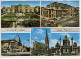 Viele Grüße Aus WIEN - Schloß Belvedere, Staatsoper, Parlament, Stephansdom, Karlskirche - Wien Mitte