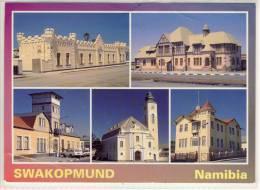 NAMIBIA - SWAKOPMUND - Alte Kasern For Railroad Comp, Prison, Nice Stamp, Haus Altona, Lutheran Church, Ritterburg - Namibie