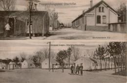 Lot 67 2cpa CAMP D'OBERHOFFEN  Double Vue Occupation Allemande , Une Allée Du Parc Occupation Française - Barracks