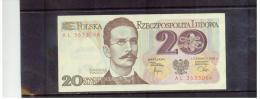 POLEN  ,  POLAND  ,  1.6.1982  ,   20  DWADZIESCIA  Zlotych   ,     Pick# 140   ,   UNC - Polen