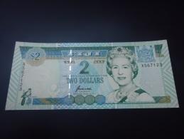 1996 FIJI REPLACEMENT RARE 2 DOLLARS ( P 96br ) - UNC - - Fidji